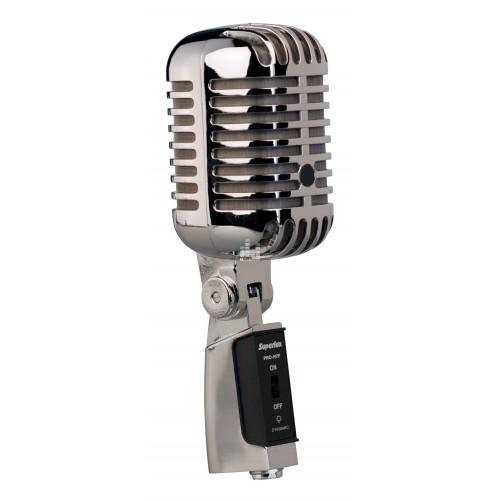Ретро микрофон хромированный