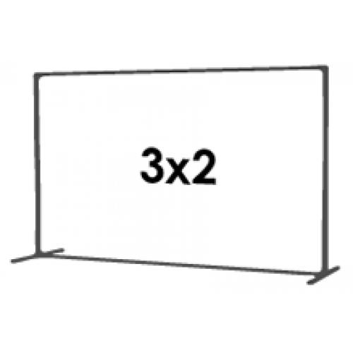 3) Стена 3 на 2 м
