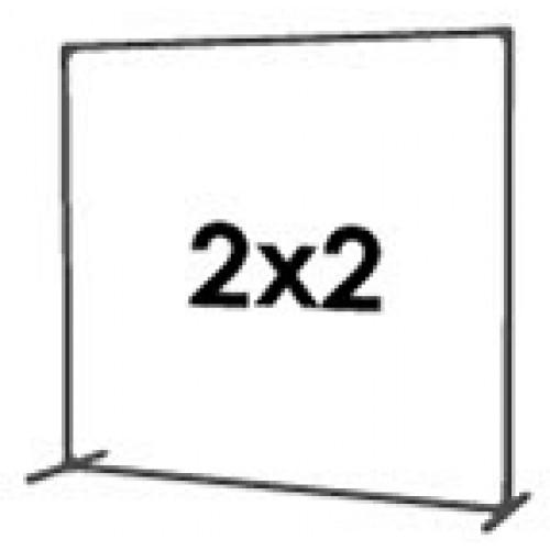 2) Стена 2 на 2 м
